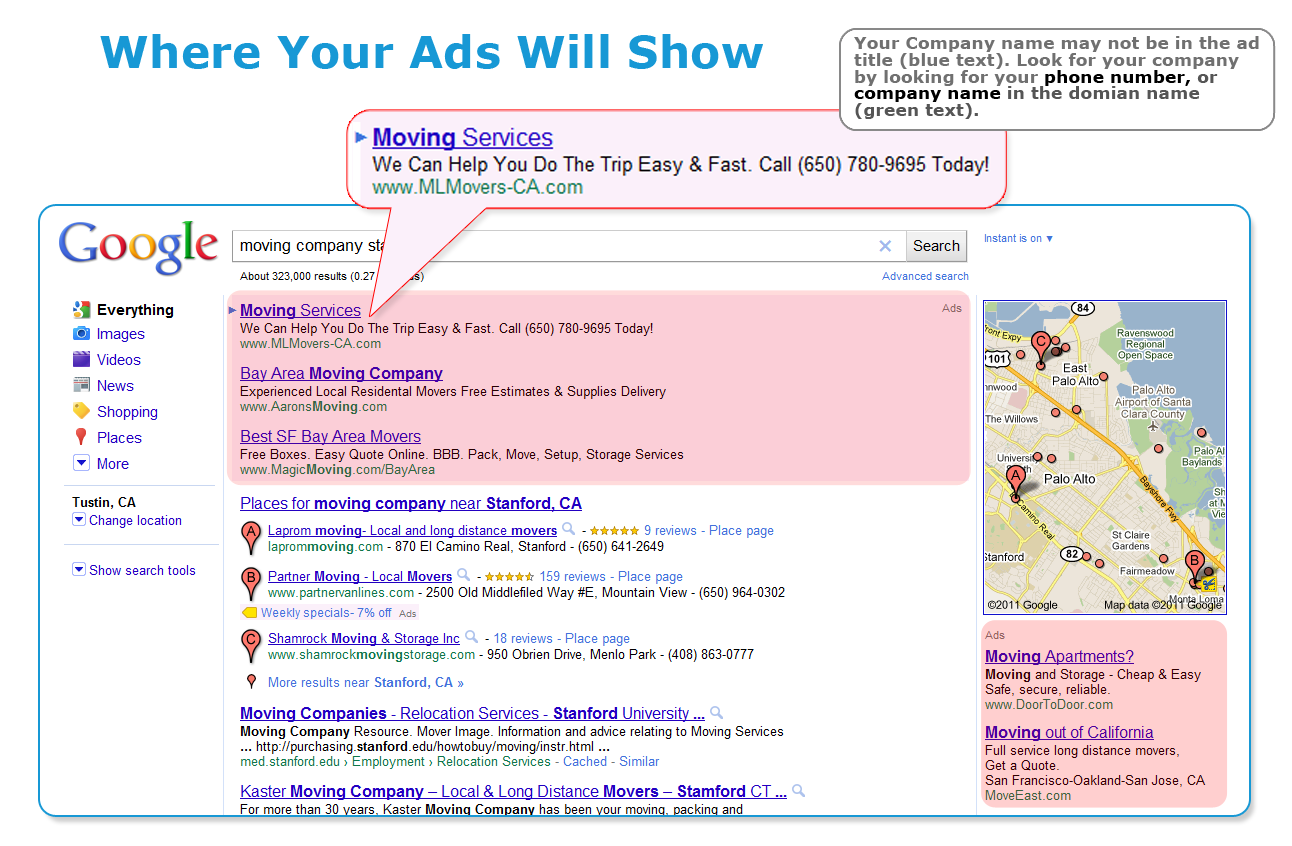 Where Your Ads Will Appear